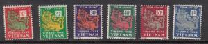Viet Nam Sc# J1-6  1952 Postage Due set MH