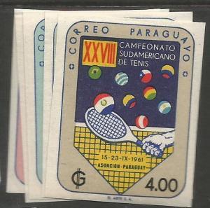 Paraguay SC 605-9 Imperf MOG (9ckt)