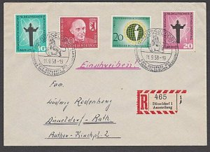 GERMANY 1958 Registered cover - nice franking...............................B340