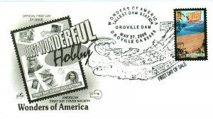 Artcraft AFDCS Orville Dam Fish Drop Cancellation Tallest Dam United States Rare