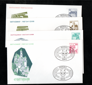 W.GERMANY 1977  DEFS.ON FDCs