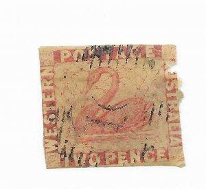 Western Australia #14 Filler Used - Stamp CAT VALUE $130.00