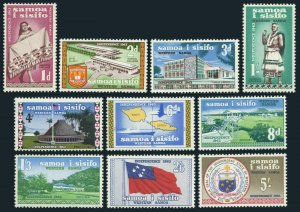 Samoa 223-232,lightly hinged.Michel 112-121. Western Samoa Independence:Map,Ship