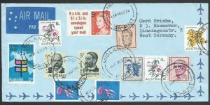 AUSTRALIA 1973 Airmail cover to Germany - nice franking....................53480