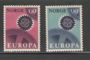 Norway Sc 504-5 1967 Europa stamps mint NH
