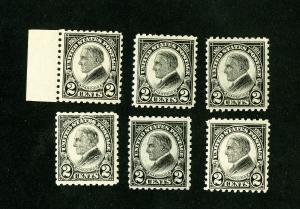 US Stamp # 612 VF Lot of 6 OG NH