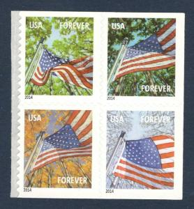 4782b-4785b Flags For All Seasons Block Of 4 (2014) Mint/nh FREE SHIPPING