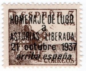 (I.B) Spain Postal : Civil War Overprint (Luga)