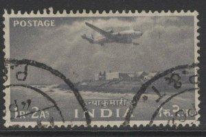 INDIA SG367 1955 1r.2a GREY USED