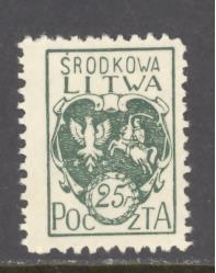Central Lithuania Sc # 2 mint hinged (RS)
