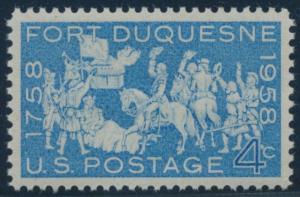 #1123 4c 1958 FORT DUQUESNE SUPERB OG NH GEM WITH PSE 100 CERT BU8681
