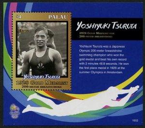 HERRICKSTAMP NEW ISSUES PALAU Olympic Champions Souvenir Sheet