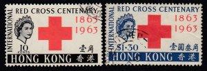 Hong Kong Sc 219-220, used