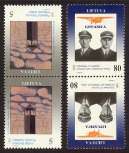 Lithuania Sc# 457a-8a MNH World Lithuanian Unity Day (Pairs)