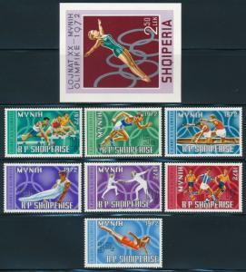 Albania - Munich Olympic Games Set #1374-81 (1972)