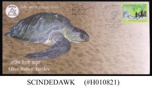 INDIA - 2019 GOAPEX - 'OLIVE RIDLEY' TURTLES SPECIAL COVER WITH CANCELLATION