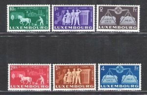 1951 Luxembourg, Luxembourg, N° 443/448 For A Europa Plain - Council Of Eu