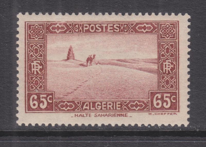 ALGERIA, 1936 65c. Red Brown, lhm.