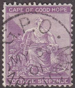 Cape of Good Hope 49 USED 1884 Hope & Symbols of Colony CDS