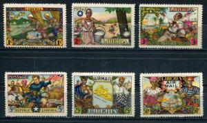 Liberia SC# 309-12, C63-4 Historical events & Life set  MNH