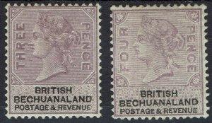 BECHUANALAND 1888 QV 3D AND 4D