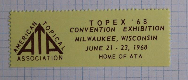 ATA TOPEX 68 1968 convention expo Milwaukee WI Philatelic Stamp club society DM