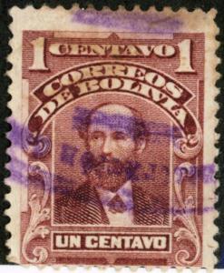BOLIVIA #70, USED - 1901 - BOLIVIA03