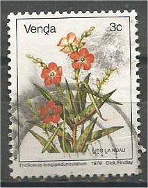 VENDA, 1979, used 3c, Flowers, Scott 7