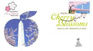 Cherry Blossoms Centennial FDC, w/DCP cancel,  #2 of 3