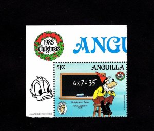 ANGUILLA - 1985 - DISNEY - GOOFY - HUCKLEBERRY FINN - MARK TWAIN + MNH SINGLE!