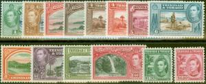 Trinidad & Tobago 1938-44 set of 14 SG246-256 V.F Very Lightly Mtd Mint