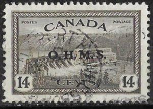 Canada # O7  O.H.M.S.  Overprint   14c   (1) VF Used