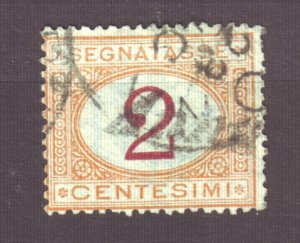 J22610 Jlstamps 1870-25 italy used #j4 postage due