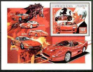 Burkina Faso 1999 Ferrari perf m/sheet unmounted mint
