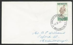 NEW ZEALAND 1955 cover JUBILEE EXHIBITION WELLINGTON cds...................52851