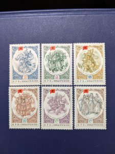 Albania 1867-72 VF-XFNH complete set, CV $4