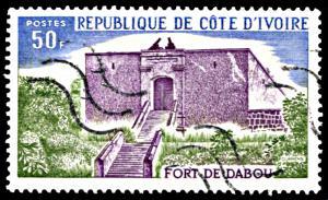 Ivory Coast 397, used, Fort Dabou