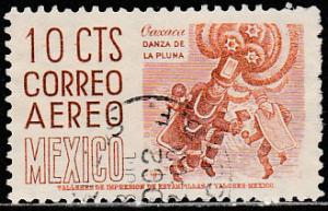 MEXICO C219a, 10cents 1950 Definitive 2nd Printing wmk 300 USED, F-VF. (1043)