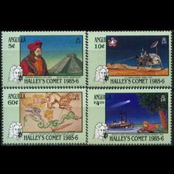 ANGUILLA 1986 - Scott# 669-72 Halley Comet Set of 4 NH