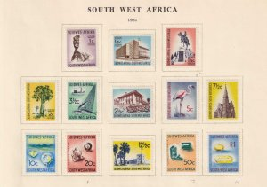 SOUTH WEST AFRICA NICE 1961 LOT REMOVED FROM ALBUM PAGE - Y779