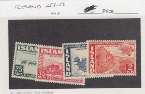 J25789  jlstamps 1949 iceland set mnh #253-6 upu checked for condition