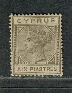 Cyprus Sc#24 M/H/VF, Tiny WM Thin, Cv. $75
