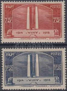 France stamp Normandie cruise ship Hinged 1936 Mi 322-323 WS147859