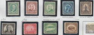 U.S. Scott #692-700 Stamps - Mint NH Set