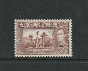 Trinidad & Tobago 1938 4c Chocolate UM/MNH SG 249