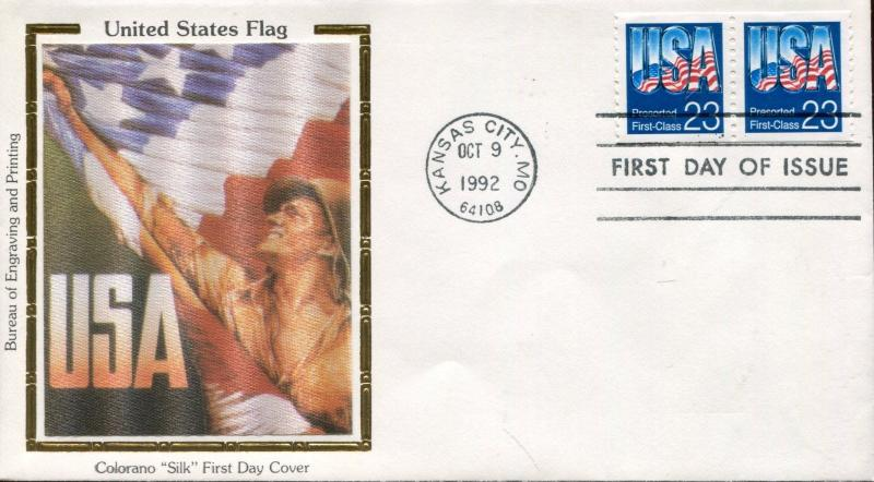 US FDC Scott #2607 US Flag. Colorano Cachet. Free Shipping