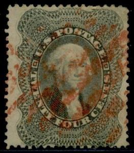 #37 VF USED WITH RED CANCEL CV $440.00 BQ7115