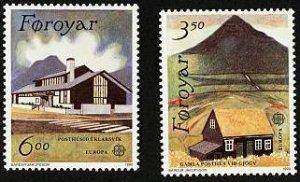 Faroe Islands 1990 #205-6 MNH. Post offices, Europa