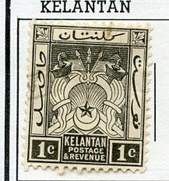 Malaya Kelantan USED H Scott Cat. # 15