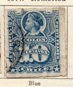 Chile 1877 Early Issue Fine Used 10c. NW-11398